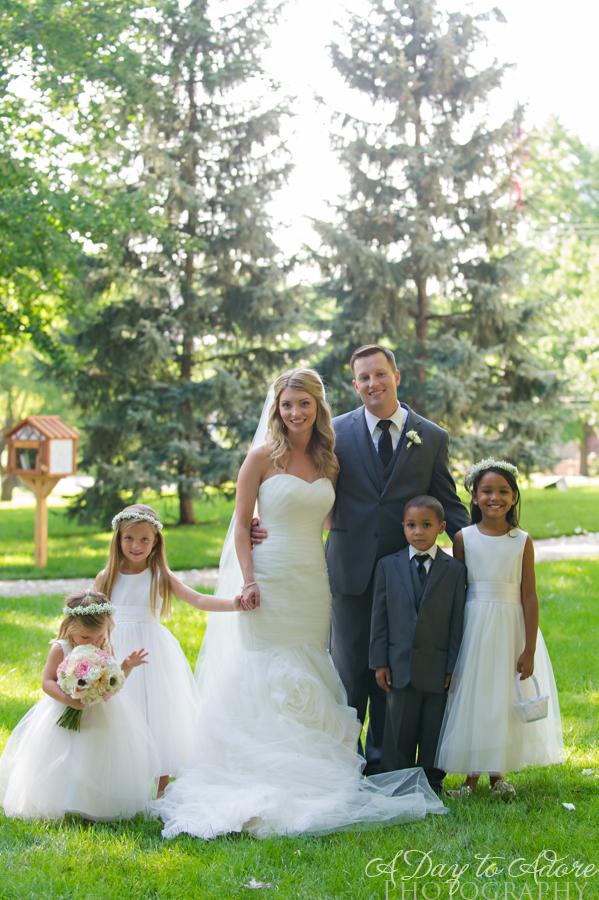 loose park wedding portrait