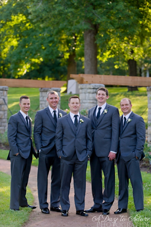 grey groomsmen