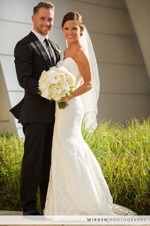 Kauffman Performing Arts Wedding Couple