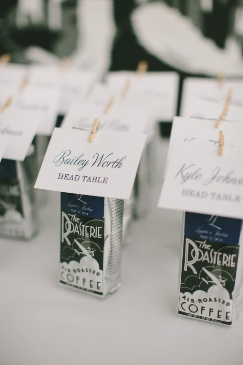 Bean Hangar at The Roasterie escort cards