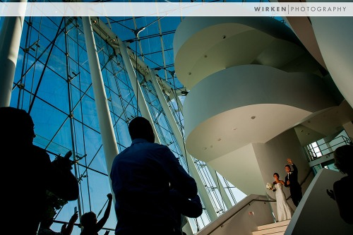 Kauffman Performing Arts Center Wedding Entrance