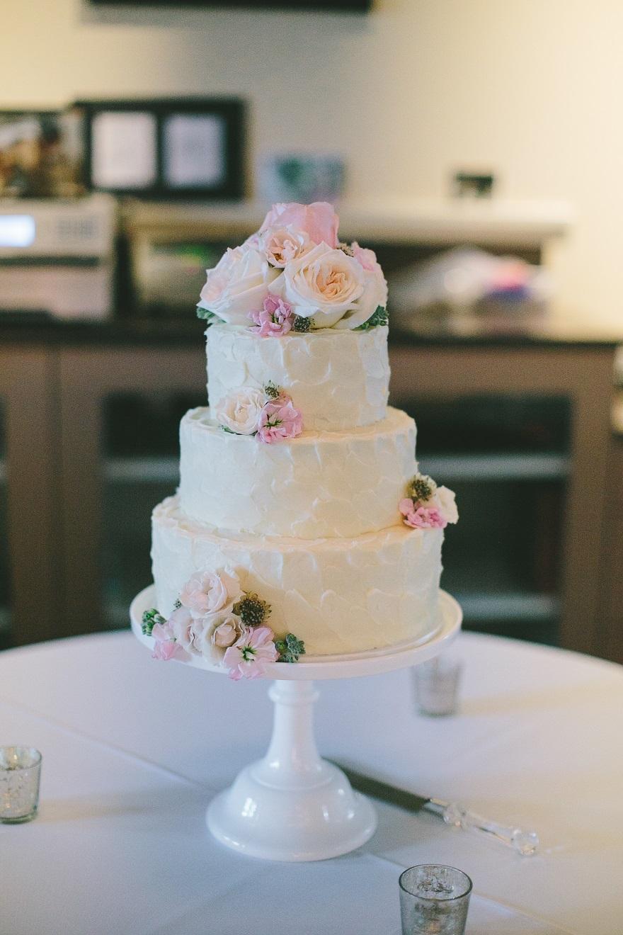 Bean Hangar at The Roasterie Wedding Cake