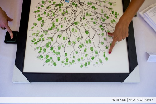Thumbprint guestbook