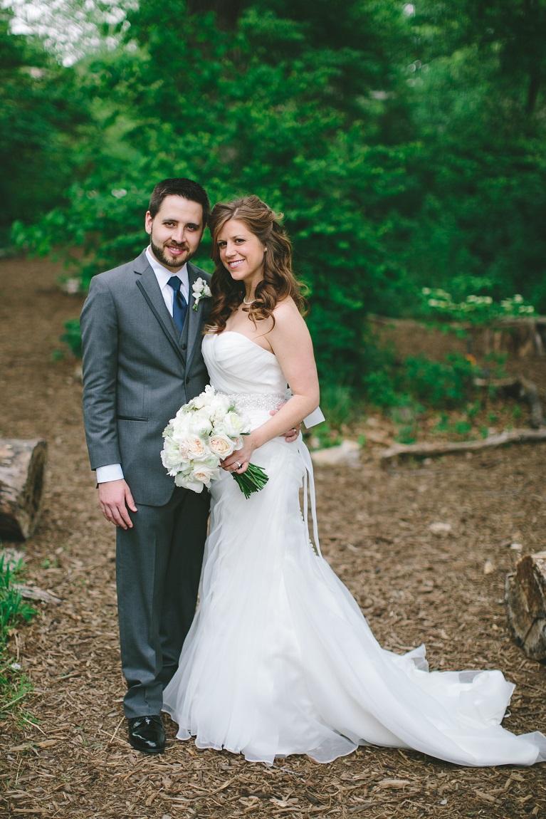 summer wedding couple