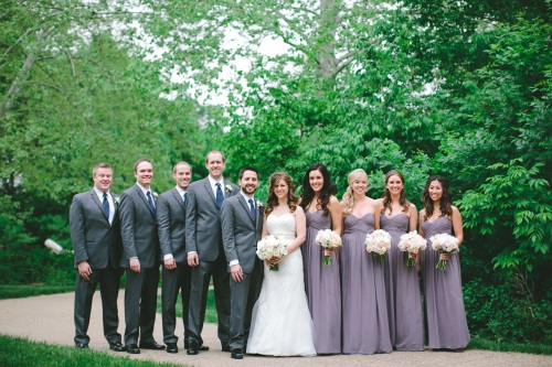 summer wedding bridal party