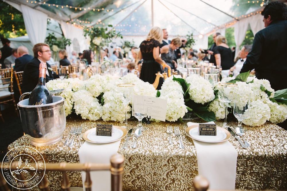 Kansas City backyard wedding reception
