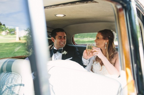 Pech Limo wedding couple