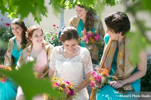 Turquoise bridal party