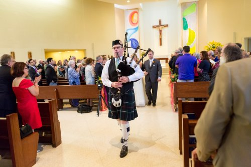 Bagpipe Exit at Wedding