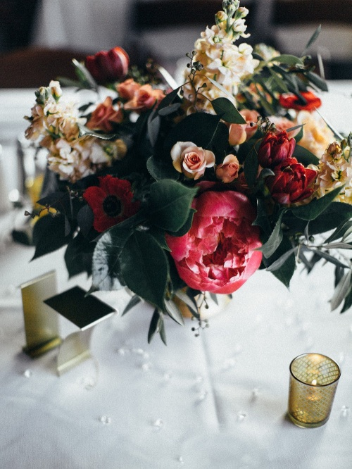 Pink Peony Centerpieces
