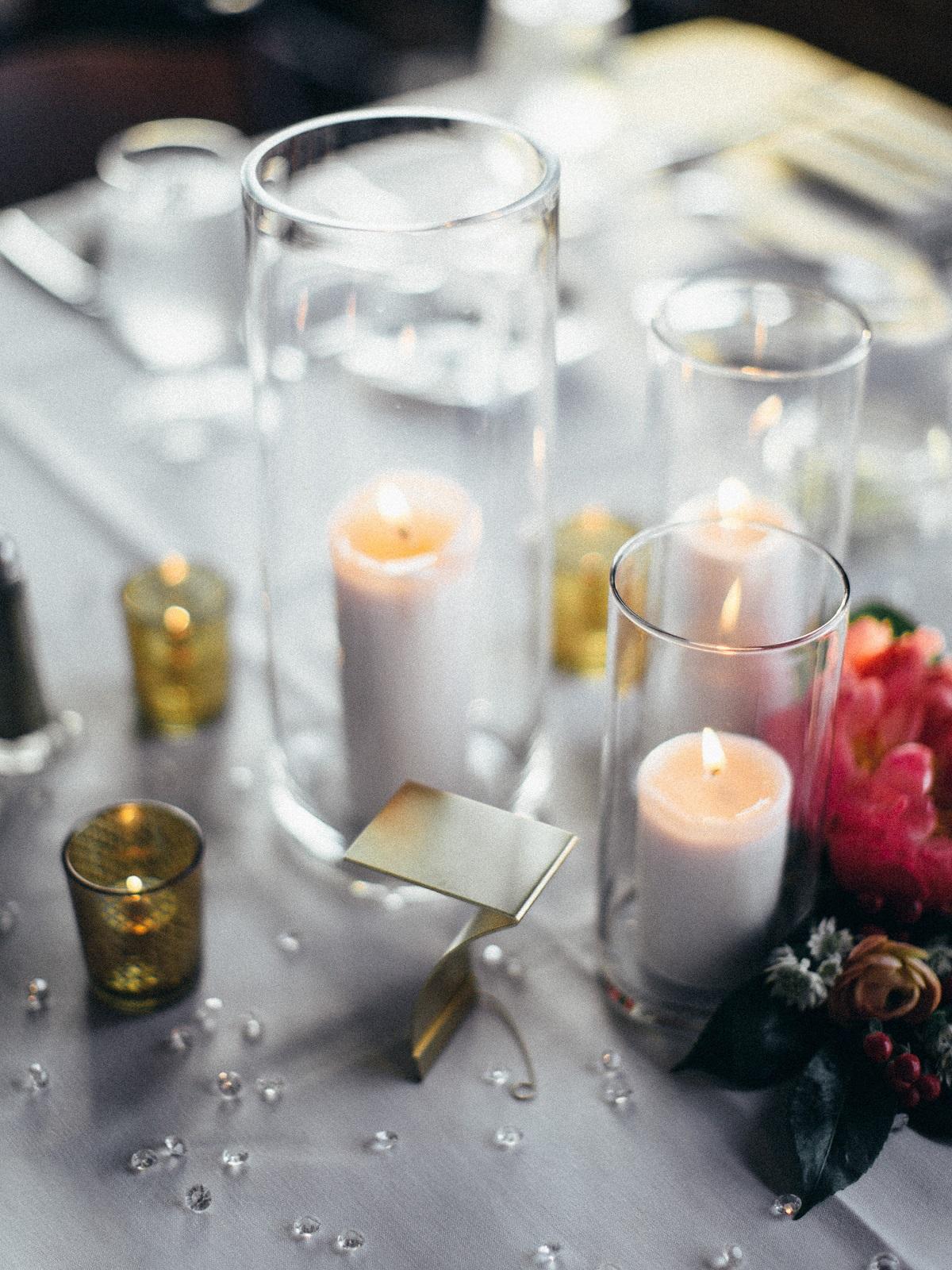 Trio of Candles Centerpieces