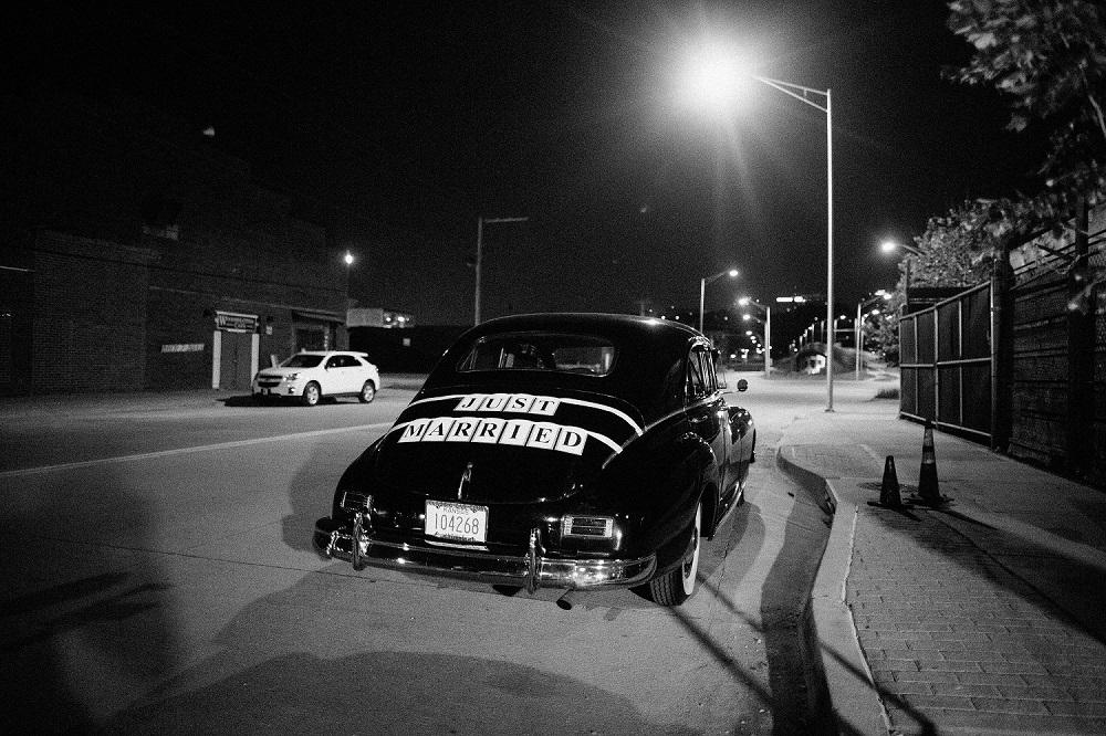 Just Married Vintage Car