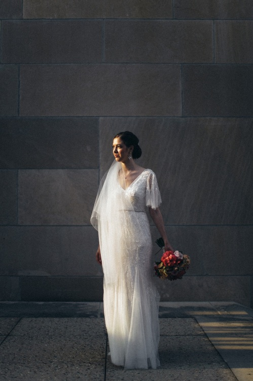 KC Bride at World War I Memorial
