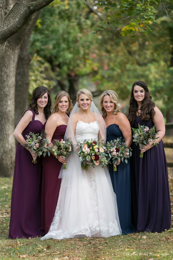 KC Fall Wedding Bridesmaids