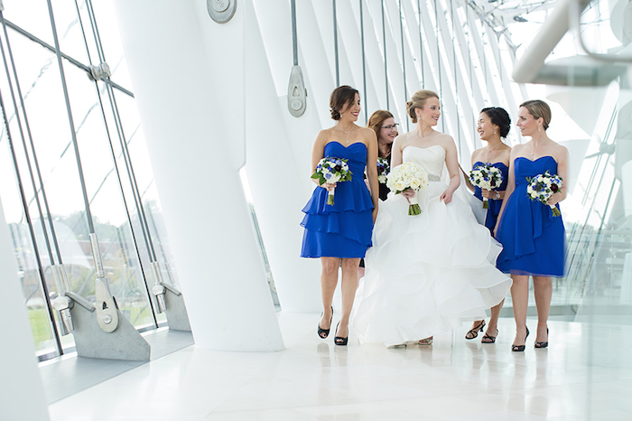 Cobalt Blue Bridesmaids Dresses