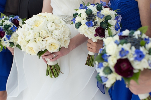 Blue Bridesmaids Bouquets